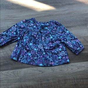 Baby girl floral print blouse gap
